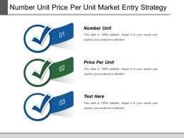 Number Unit Price Per Unit Market Entry Strategy
