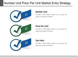 Number Unit Price Per Unit Market Entry Strategy