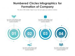 Numbered Circles For Formation Of Company Infographic Template