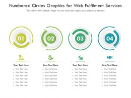 Numbered Circles Graphics For Web Fulfilment Services Infographic Template