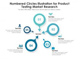 Numbered Circles Illustration For Product Testing Market Research Infographic Template