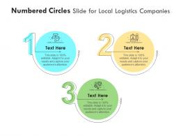 Numbered Circles Slide For Local Logistics Companies Infographic Template