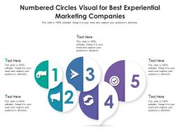 Numbered Circles Visual For Best Experiential Marketing Companies Infographic Template