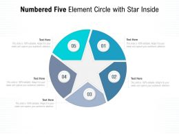 Numbered Five Element Circle With Star Inside