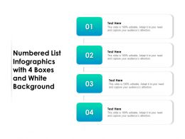 Numbered List Infographics With 4 Boxes And White Background