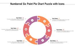 Numbered Six Point Pie Chart Puzzle With Icons