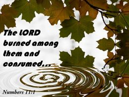 Numbers 11 1 The LORD burned among PowerPoint Church Sermon