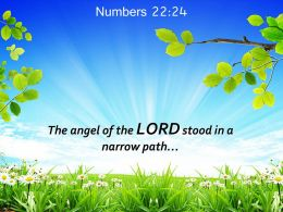 Numbers 22 24 The Angel Of The LORD Stood Powerpoint Church Sermon