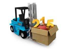 Numbers In Carton Full With Cartons On Truck Stock Photo
