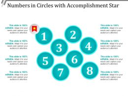 Numbers In Circles With Accomplishment Star