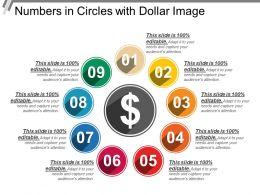 Numbers In Circles With Dollar Image