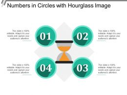 Numbers In Circles With Hourglass Image