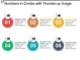 Numbers In Circles With Thumbs Up Image
