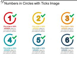 Numbers In Circles With Ticks Image