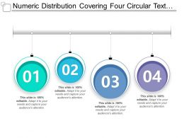 Numeric Distribution Covering Four Circular Text Boxes