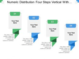 Numeric Distribution Four Steps Vertical With Text Boxes