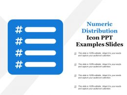 Numeric Distribution Icon Ppt Examples Slides