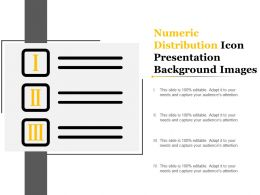 Numeric Distribution Icon Presentation Background Images