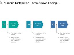 Numeric Distribution Three Arrows Facing Downwards