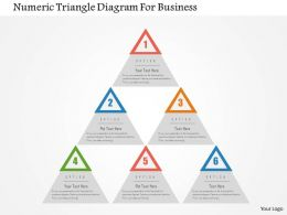 Numeric Triangle Diagram For Business Flat Powerpoint Design