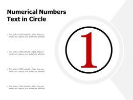 Numerical Numbers Text In Circle
