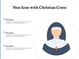 Nun Icon With Christian Cross