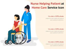 Nurse Helping Patient At Home Care Service Icon