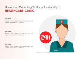 Nurse Icon Depicting 24 Hours Availability In Healthcare Clinic