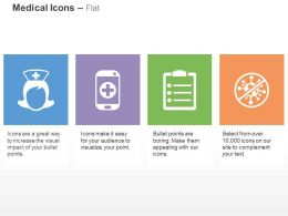 Nurse Mobile App Medical Report No Bacteria Ppt Icons Graphics
