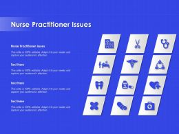 Nurse Practitioner Issues Ppt Powerpoint Presentation Gallery Graphic Images