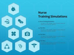Nurse Training Simulations Ppt Powerpoint Presentation Outline Graphic Tips