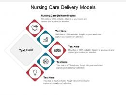 Nursing Care Delivery Models Ppt Powerpoint Presentation Gallery Master Slide Cpb