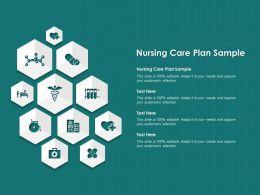 Nursing Care Plan Sample Ppt Powerpoint Presentation Slides Outline