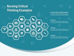 Nursing Critical Thinking Examples Ppt Powerpoint Presentation Outline Skills