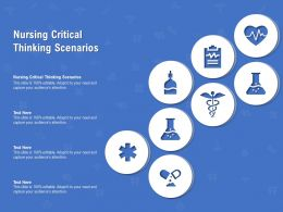 Nursing Critical Thinking Scenarios Ppt Powerpoint Presentation Infographic Template
