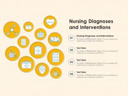 Nursing Diagnoses And Interventions Ppt Powerpoint Presentation Pictures Example Introduction
