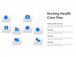 Nursing Health Care Plan Ppt Powerpoint Presentation Layouts Introduction