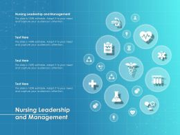 Nursing Leadership And Management Ppt Powerpoint Presentation Ideas