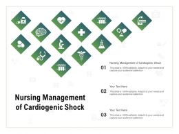Nursing Management Of Cardiogenic Shock Ppt Powerpoint Presentation Gallery