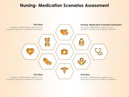 Nursing Medication Scenarios Assessment Ppt Powerpoint Presentation Styles Display