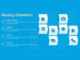 Nursing Obstetrics Ppt Powerpoint Presentation Portfolio Vector