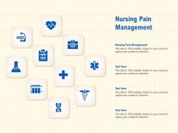 Nursing Pain Management Ppt Powerpoint Presentation File Layout