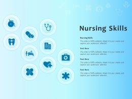 Nursing Skills Ppt Powerpoint Presentation Professional Graphics Pictures