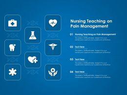 Nursing Teaching On Pain Management Ppt Powerpoint Presentation Model Graphics