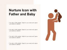 Nurture Icon With Father And Baby