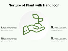 Nurture Of Plant With Hand Icon