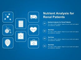 Nutrient Analysis For Renal Patients Ppt Powerpoint Presentation Outline Deck