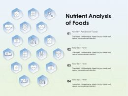 Nutrient Analysis Of Foods Ppt Powerpoint Presentation Icon Images