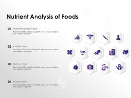 Nutrient Analysis Of Foods Ppt Powerpoint Presentation Pictures Background Images