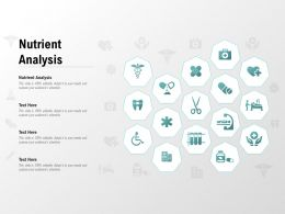 Nutrient Analysis Ppt Powerpoint Presentation Infographics Professional